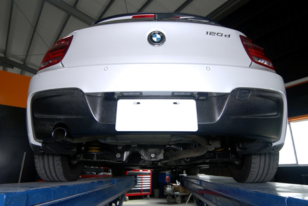 F20 rear diffuser for M Sport bumper, carbon ( made by vacuum ) 1