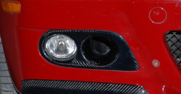 E46 M3 fog lamp cover, carbon 3