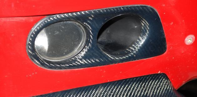 E46 M3 fog lamp cover, carbon 1