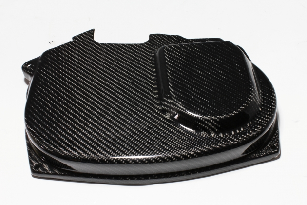 EVO 9 cam pulley cover, carbon 1